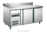 Commercial Kitchen Cooling Table with Double Doors Refrigerator