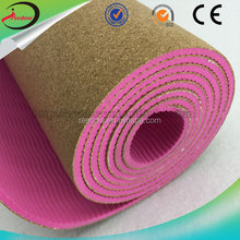Reedow Brand New Product Hot sale Anti Slip Private Label Fitness Natural Cork Yoga Mat