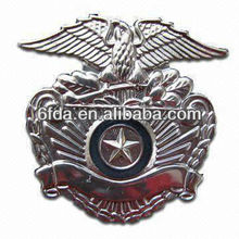 eagle and star black-nickle metal badge