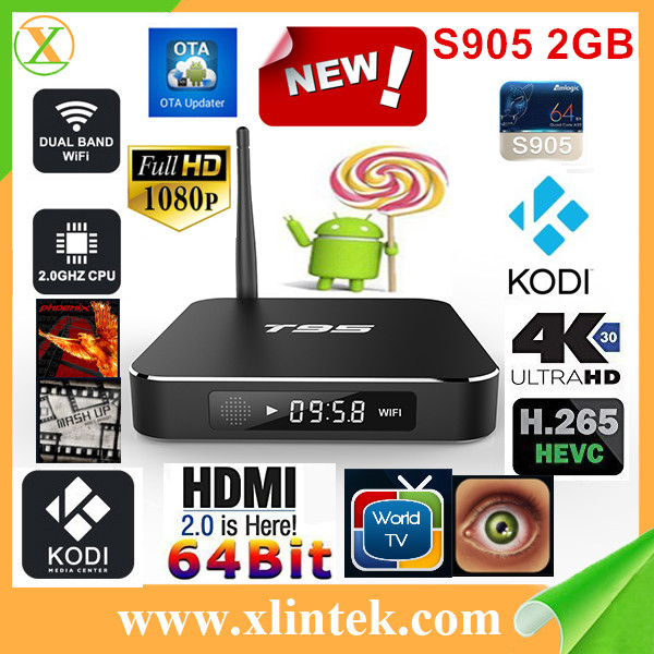 2016 China wholesale S905 IPTV set top chIPped Android hybrid TV box
