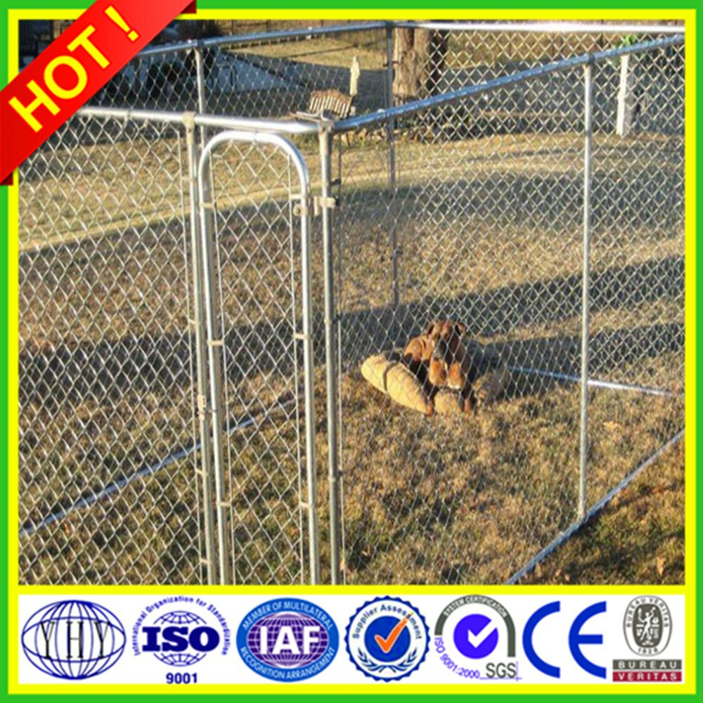 1.8m/2m/round post /galvanized temporary dog proof chain link fence (ISO & CE & BV certification factory)
