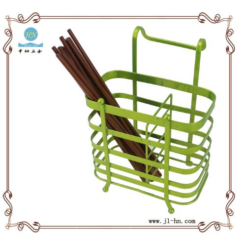 2016 promotion wall mounted spoon and fork holder iron wire chopsticks rack