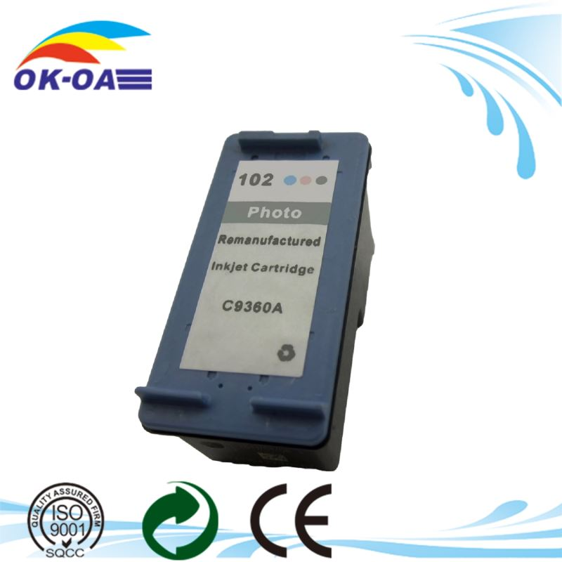 China Products recycled ink cartridge for HP <strong>102</strong> C9360AE