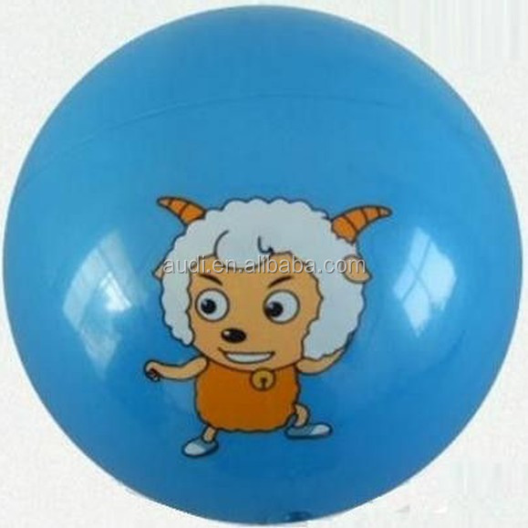 Customized PVC Inflatable Beach Balls With Animal Design For Children