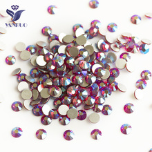 NHF 2058 ss20 crystalAB Chaton flat back glass rhinestones beads