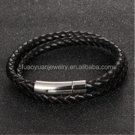 Best Selling Christmas Gifts 2016 Wrap genuine leather Bracelet men