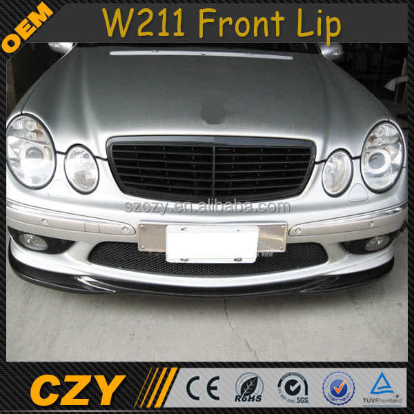 Carbon Fiber Car Front Lip Spoiler For Mercedes Ben z W211