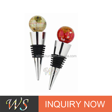 WS-s22 earth ball decorative events cockscrew wine bottle stopper