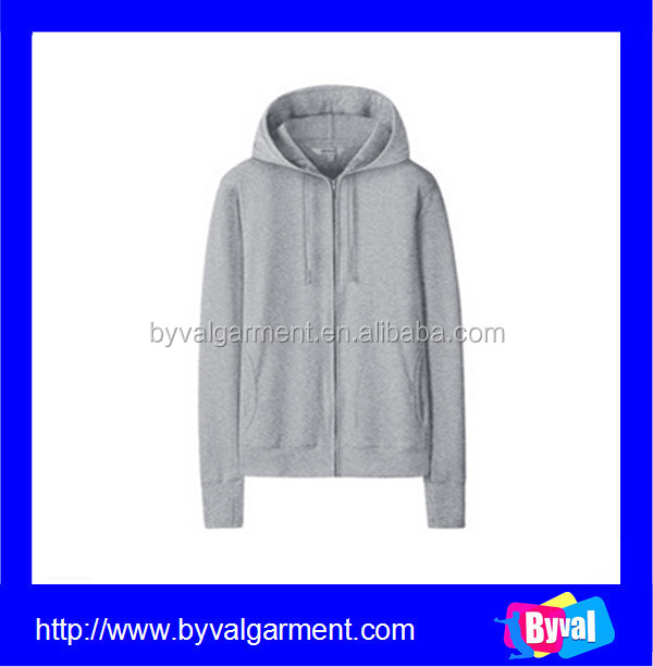 Wholesale 100%cotton sweatshirts double lined hoodies with full zipper