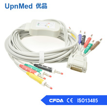 One piece Nihon Kohden ECG-9620/9020/9130 10-lead EKG cable with leadwires , pient monitor cable