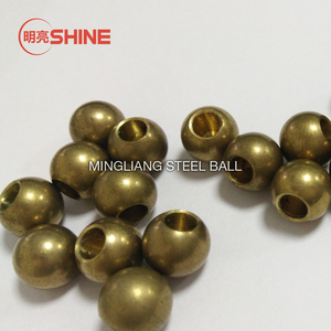 China leading manufacturer supplied solid brass ball with blind thread hole