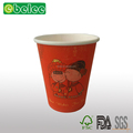 Red luck color paper cup,children cartoon paper cup coffee cup