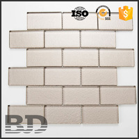 50*100*8mm Metallic Mosaic glass brick price for Building material