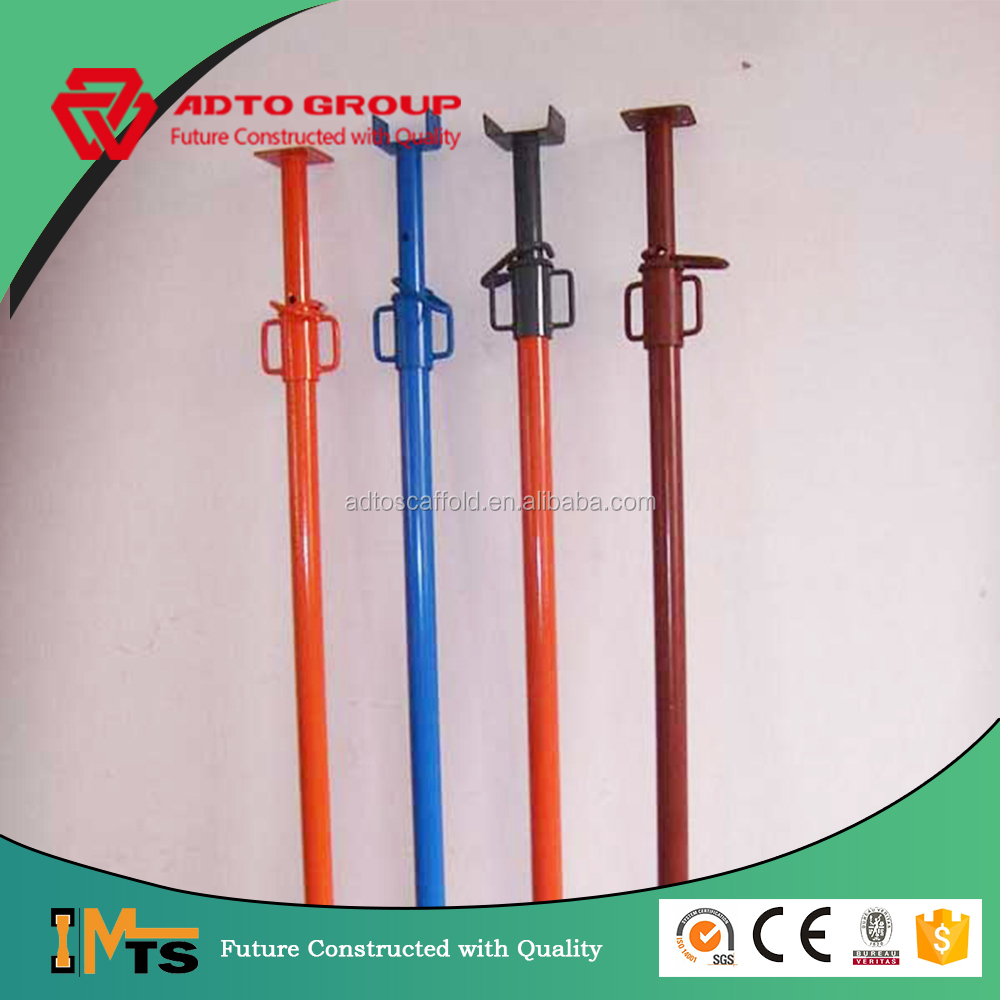 Adjustable construction metal scaffolding formwork prop