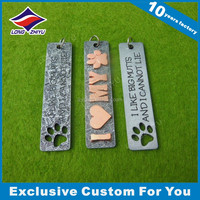 Promotional zinc alloy debossed logo custom engraving metal dog tag