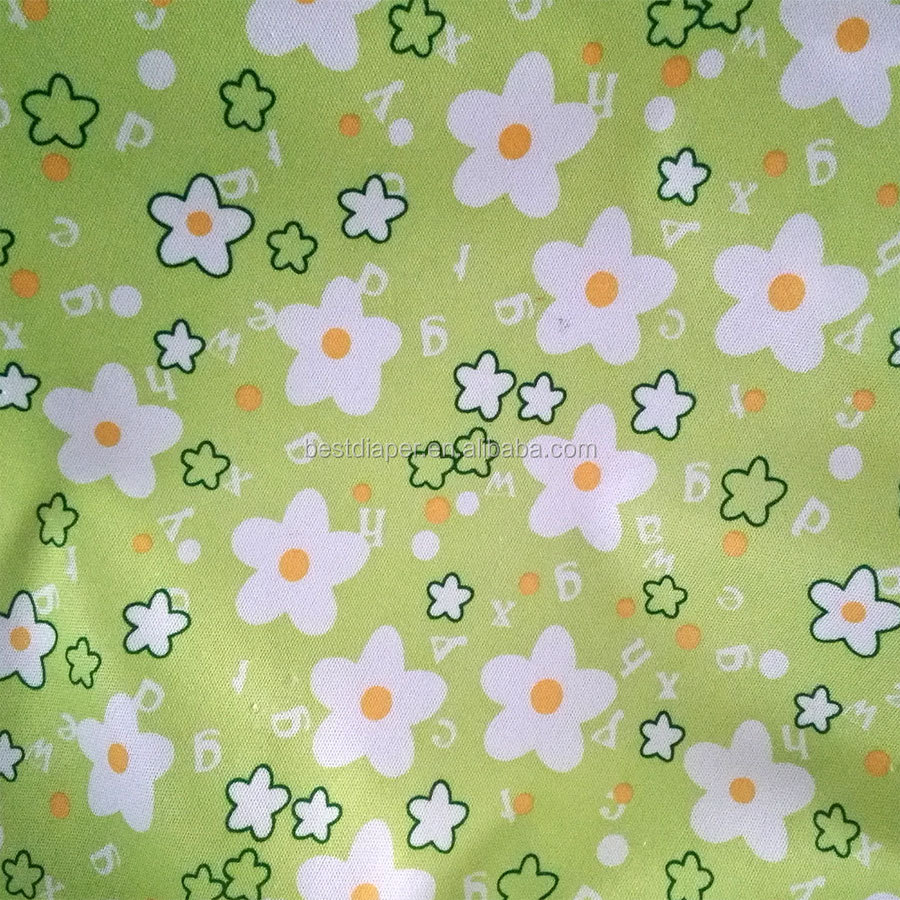 happy flute PUL waterproof diapers Fabric washable fabric wholesale custom print