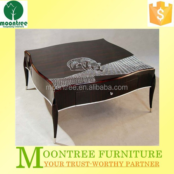 Moontree MCT-1101 ebony wood centre coffee tables furniture designs