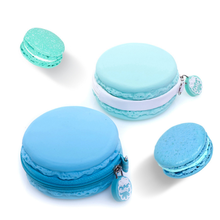 Round shape small changes simple design silicone coin purse/silicone macaron wallet