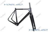Ultra Light 2014 Yoeleo DI2 Compatible Disc Brake 3K 50/52/54/56/58cm Bicycle Carbon Cyclocross Frame with Fork