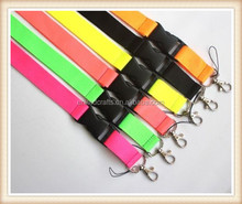 12 Pcs fashion Fluorescent color Lanyard for MP3/4 cell phone key chain lanyard