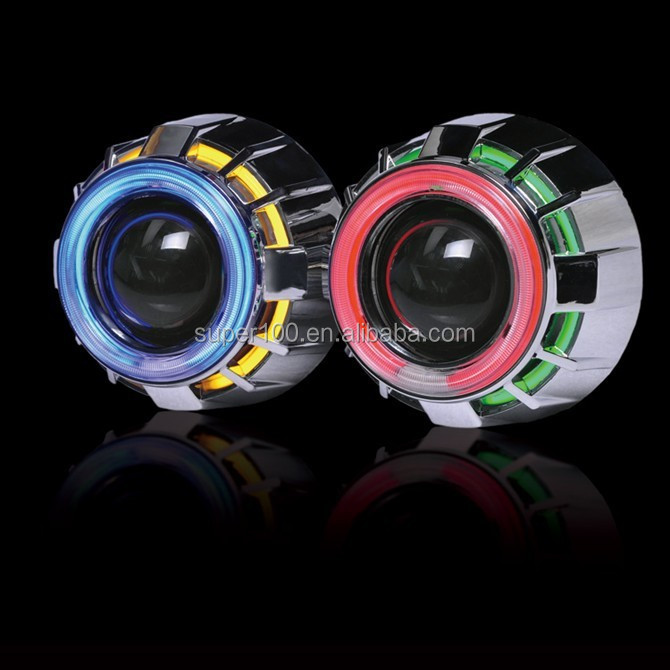 2015 New 12V 35W HID Bi-xenon Projector lens with double angel eyes