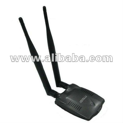 High Power 802.11 B/N/G USB Wireless 1000 mw Wifi Network Adapter with Dual Antenna