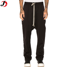 2018 New design sports pants with draw-string black biker sport pants trousers
