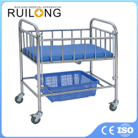 2016 New Movable Stainless Steel Single Infant Hospital Baby Bed