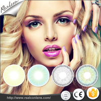 14.00mm small diameter natural 3 tones European style contact lens have in stock