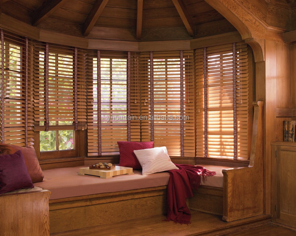 auto bamboo blinds wooden curtain