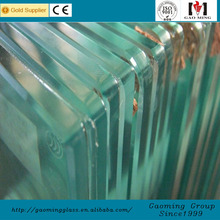 6.38mm-40.52mm colored or clear tempered laminated curved glass