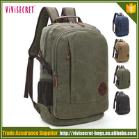 High quality competitive price canvas backpack unique classical book bags vintage rucksack