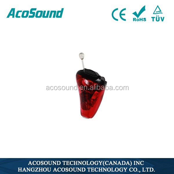 AcoSound Acomate Ruby-II IIC 100% Invisible in The Canal Digital High Power Hearing Aids