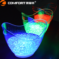 Alibaba Gold Supplier illuminated acrylic LED ice bucket