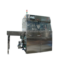 Chocolate enrobing machine with spray peanut Granular sprinkler and Decoration of the machine