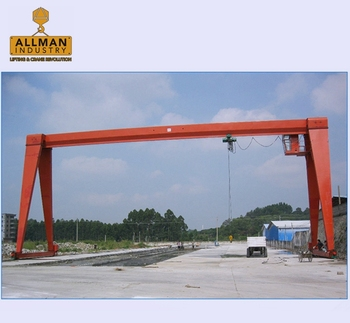 ALLMAN high performance workshop electric motor driven mobile gantry crane 5ton 10ton 15ton