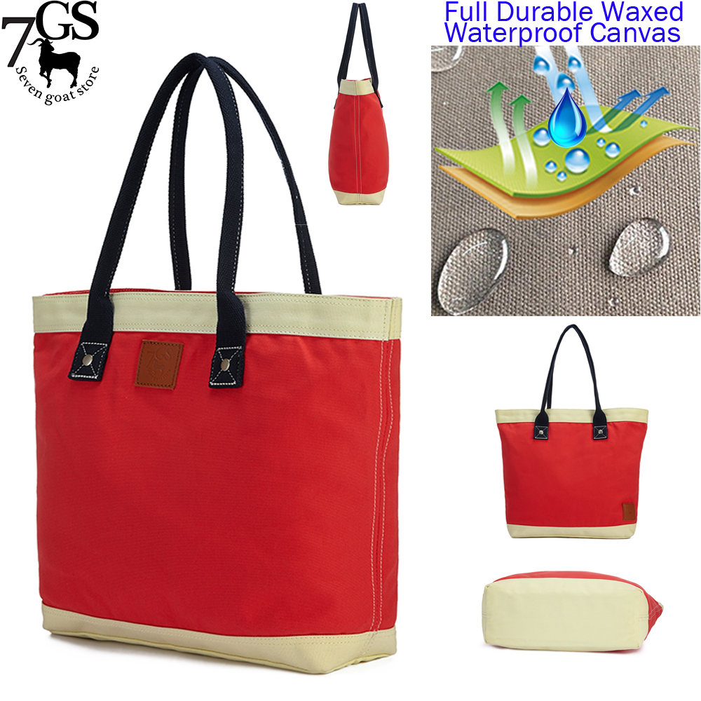 Famous Brand of Women Hand Bag Factory <strong>Manufacturing</strong> Waxed Cotton Strong Canvas Rainproof Custom Tote Bag