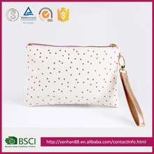 Hot Sale Low Price White Dots Design Cosmetic Bag