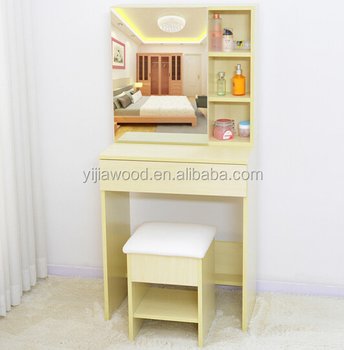Wood Mirrored Dresser Cabinet Design