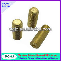 Brass torx head security set screws with cup point