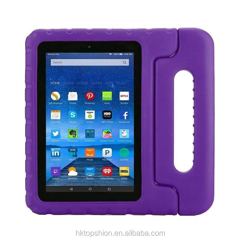 Hot for amazon new touch kindle 7 inch tablet case kids proof eva foam case with handle