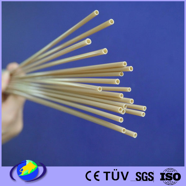 peek extruded natural hollow rod injection molding industrail products customized