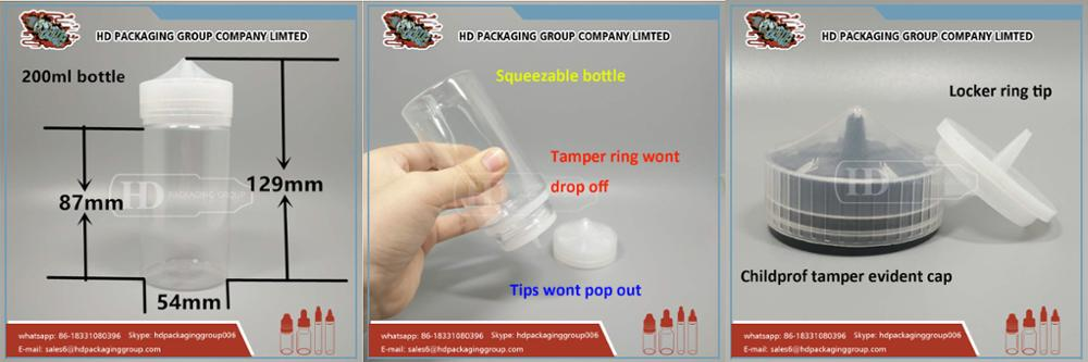 HD hot sale Clear bottle 60ml