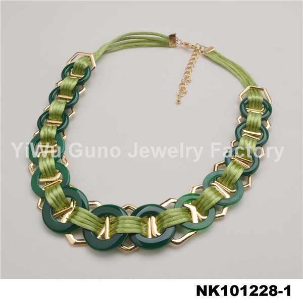 Wholesale jewelry handmade necklace thick rope necklace