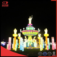 Outdoor amusement park lantern lighting