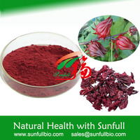 100% pure natural Hibiscus Extract for beverage