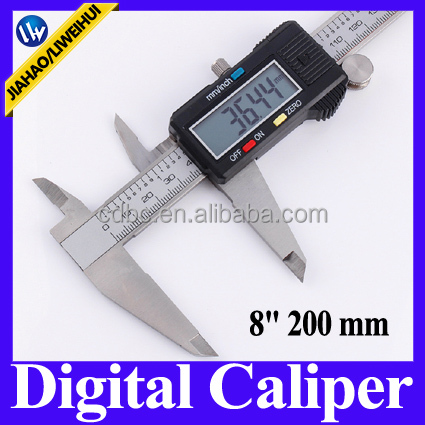 200mm 6 inch digital electronic LED display vernier caliper micrometer gauge for DIY use