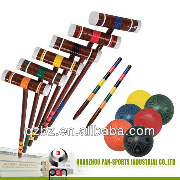 croquet game set,Deluxe Croquet Set.gateball