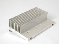Siliver anodized and Mill finished aluminium heat sink
