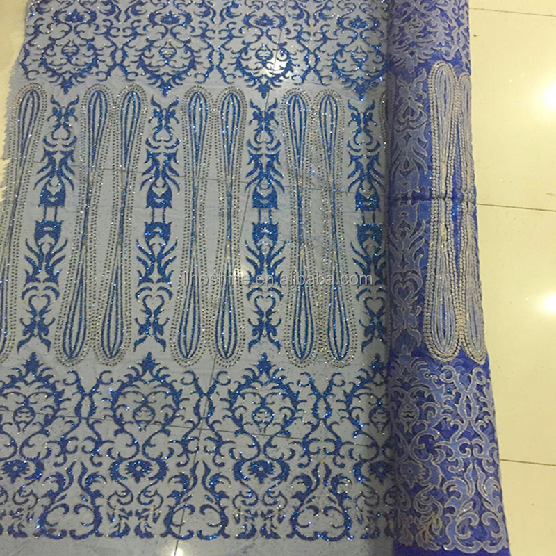 Wholesale Glitter Dry Lace Cheap Mesh Fabric for dress